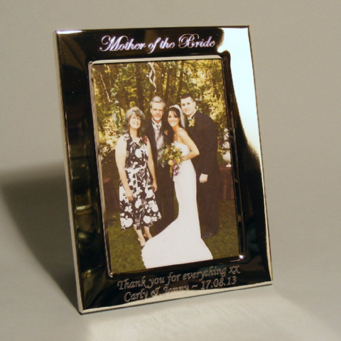Mother Father of the Bride or Groom Photo Frame Personalised Wedding Gift